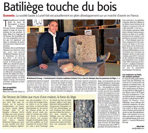 Article Batiliege Midi Libre